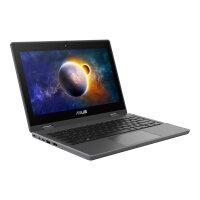"ASUS BR1100FKA BP0123RA - Flip design - Celeron N4500 / 1.1 GHz - Windows 10 Pro National Academic - 4 GB RAM - 64 GB eMMC - 11.6"" touchscreen 1366 x 768 (HD) @ 60 Hz - UHD Graphics - Bluetooth, Wi-Fi 6 - dark grey"