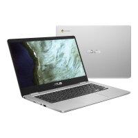 "ASUS Chromebook C423NA EC0634 - Lay-flat design - Celeron N3350 / 1.1 GHz - Chrome OS - 8 GB RAM - 32 GB eMMC - 14"" touchscreen 1920 x 1080 (Full HD) - HD Graphics 500 - Wi-Fi 5, Bluetooth - silver (top), black (LCD cover)"