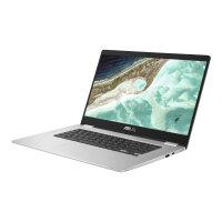 "ASUS Chromebook C523NA A20440 - Lay-flat design - Celeron N3350 / 1.1 GHz - Chrome OS - 8 GB RAM - 64 GB eMMC - 15.6"" touchscreen 1920 x 1080 (Full HD) - HD Graphics 500 - Wi-Fi 5 - silver"