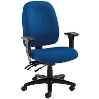 Avior Heavy Duty 24 Hour High Back Office Chair with Lumbar Blue KF72249 - Weight Tolerance: 150kg