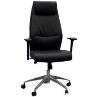 Executive High Back Faux Leather Office Chair with Pivoting Height Adjustable Arms