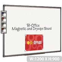 Bi-Office Magnetic Whiteboard 1200x900mm Aluminium Finish MB1406186