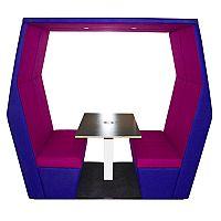 Meeting Pod BILL 4 Seater Purple