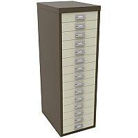 Bisley Multi-Drawer Cabinet 39 inches 15 Drawer Non-Locking Coffee/Cream 39/15