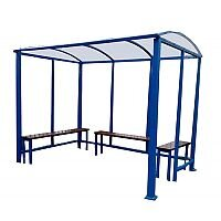 Smoking Shelter 3000mm Width with Polycarbonate Glass