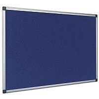 Bi-Office Felt Board 600 x 900mm Blue Aluminium Frame FA0343170