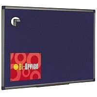 Bi-Office Felt Board 1200x900mm Blue Aluminium Finish FB1443186