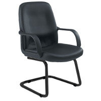 TC Canasta Visitor Chair Black Leather-Look