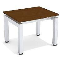 Reception Coffee Table Dark Walnut Top & Silver Frame W600xD500xH460