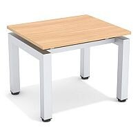 Reception Coffee Table Beech Top & Silver Frame W600xD500xH460