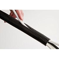 Cable Tidy Flexible Tube 1.1 Meters Black D-Line. Suitable For Use In Offices, Classrooms, Home Use & More.