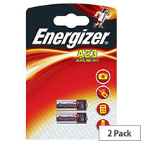 Energizer A23/E23A 12 Volt Alkaline Battery Pack Of 2 - Capacity of 55mAh - Suitable for Headsets, Toys, Electronics, Medical Devices & More