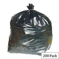2Work Black Extra Heavy Duty Refuse Sacks 90 Litres Pack of 200 KF76961