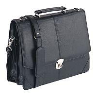 Falcon Synthetic Leather Flapover Briefcase 2584