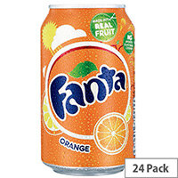 Fanta Sparkling Orange Fruit Drink 330ml Can (Pack of 24) A00769