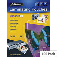 Fellowes Laminating Pouch A4 Matt 160micron Enhance Pack of 100