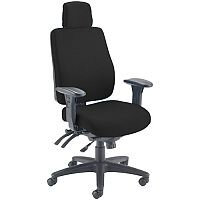 Avior Elbrus High Back 24 Hour Heavy Duty Task Operator Office Chair Black - Weight Tolerance: 150kg