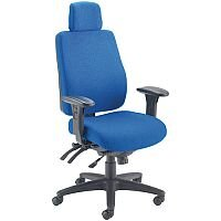 Avior Elbrus High Back 24 Hour Heavy Duty Task Operator Office Chair Blue - Weight Tolerance: 150kg