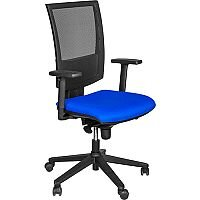 Flash Mesh Office Chair With Tension Control Adjustable Back & Arms Blue
