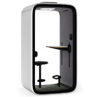 Framery One Premium - Height Adjustable Table & Seat - Activated Carbon Filter & Occupancy Indicator - The World's First Connected Soundproof Pod