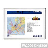 Franken Projection Whiteboard Magnetic 2000 x 1200mm White Matt Pro