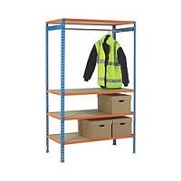 Extra Poles For Garment Hanging Rail 1200mm Orange 379615