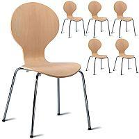 Mile Unvarnished Café Side Chair - Maple Veneer Pack of 6