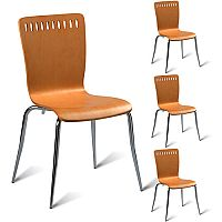 Mark Maple Side Chair - Maple Veneer Naturally Polished Pack of 4