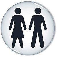 General Domed Sign Women And Men Symbol 60mm