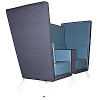 Acoustic Meeting Booth GEORGIA Blue & Grey
