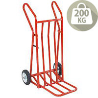 Hand Truck Heavy Duty Folding Footiron 400mm With Rubber Wheels Capacity 200Kg 309051
