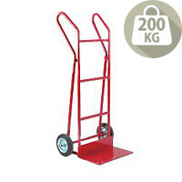 Hand Truck Heavy Duty Plate Footiron 254mm With Pneumatic Wheels Capacity 200Kg 309038