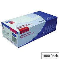 Disposable Powder Free Vinyl Examination Gloves Clear Medium Pack 10x100 Handsafe