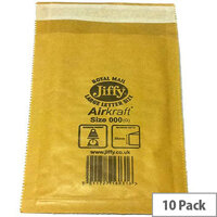 Jiffy Bag Size 5 Gold Padded Envelopes 245x381mm 10 Pack