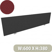 Jump Office Desk Screen Straight Top W600xH380mm Burgundy