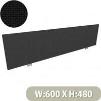 Jump Office Desk Screen Straight Top W600xH480mm Black