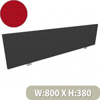 Jump Office Desk Screen Straight Top W800xH380mm Red