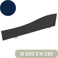 Jump Office Desk Screen Wave Top W800xH380-180mm Dark Blue