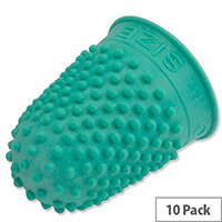 Rubber Thimble Size 0 Green Pack 10 Quality