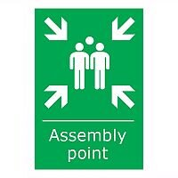 Stewart Superior Fire Assembly Point Sign 400x600mm Polypropylene