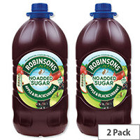 Robinsons Special R Squash No Added Sugar 4 Litres Apple and Blackcurrant A02051\A02116 Pack 2