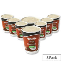 Nescafe & Go Cappuccino Coffee Foil Sealed Cups for Drinks Machine A02784 Pack 8