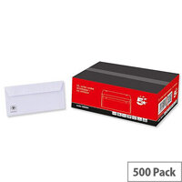 5 Star Office Envelopes Wallet Peel and Seal White DL 100gsm Pack of 500