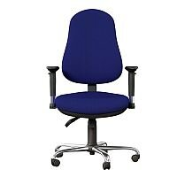 OE Series High Back Posture Operator Office Chair - Blue Fabric - Weight Tolerance: 150kg