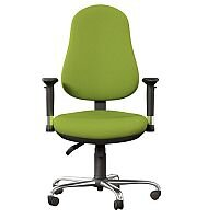 OE Series High Back Posture Operator Office Chair - Green Fabric - Weight Tolerance: 150kg