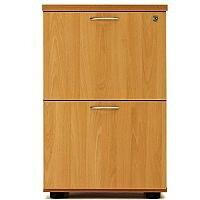 Desk High 2 Drawer Filing Cabinet (600 Deep) Beech