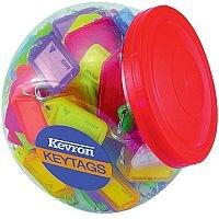 Kevron Plastic Clicktag Key Tab Tub Assorted Pack of 150 ID5AC150