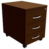 Mobile 3-Drawer Pedestal Dark Walnut  - Universal Storage Can Be Used Alone Or Accompany The Switch, Komo or Ashford Ranges