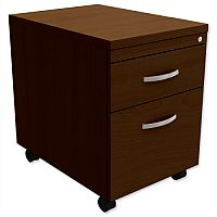 Mobile Filing Pedestal 2-Drawer Dark Walnut  - Universal Storage Can Be Used Alone Or Accompany The Switch, Komo or Ashford Ranges