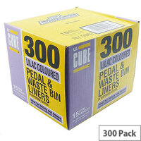 Le Cube Pedal Bin Liners in Dispenser Box 15L Pack of 300 0362